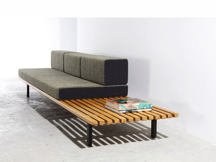:: Charlotte Perriand, bench, 1958 ::