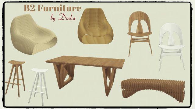 Sims 4 - B2 Furniture (Living
