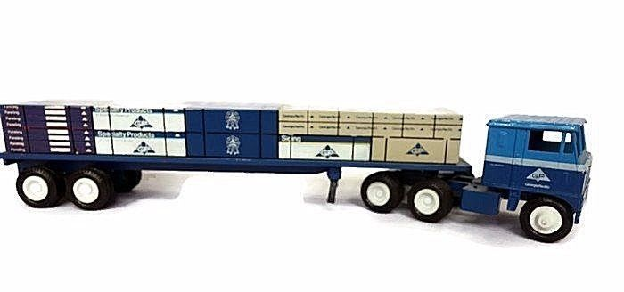 Winross Georgia Pacific GP Flatbed 1:64 Die Cast Siding Load 1987 #Winross #gapacific