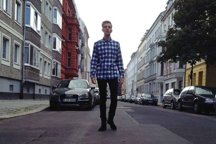 Plaid Shirt – UNIQLO Jeans – TOPMAN Boots – Sandro STYLEINPROFILE.COM