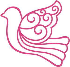 View Design: scroll dove