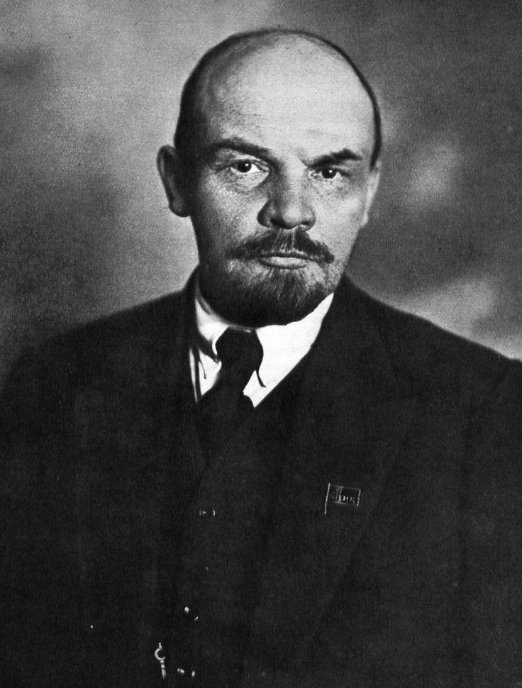 Lenin de leider na de russische burgeroolog