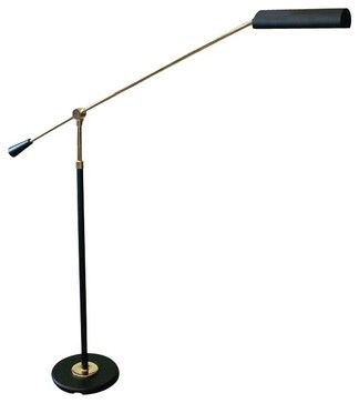 Traditional House of Troy Polished Brass and Black Floor Piano Lamp - traditional - table lamps - Lamps Plus - $352  http://www.lampsplus.com/products/house-of-troy-satin-nickel-grand-piano-floor-lamp__53739.html