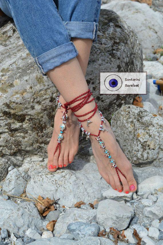 Barefoot shoes feet Jewelry barefoot sandalHippie Sandals