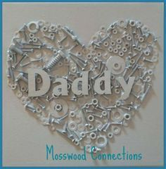 DIY Christmas Presents To Make For Parents - DIY Nuts and Bolts Heart Craft - Cute, Easy and Cheap Crafts and Gift Ideas for Mom and Dad - Awesome Things to Make for Mothers and Fathers - Dollar Store Crafts and Cool Things to Make on A Budger for the Holidays - DIY Projects for Teens http://diyprojectsforteens.com/diy-christmas-gifts-parents