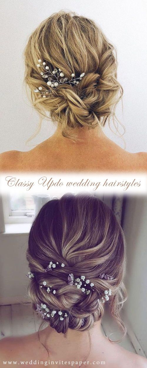42 Gorgeous Wedding Hairstyles—elegant updo hairstyle with gorgeous headpices,…