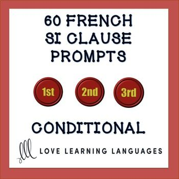 60 prompts for creating imaginative SI CLAUSES in French There are twenty prompts for each of the 3 types of si clauses. These worksheets can be used in a number of ways. They can be a writing exercise, homework assignment, quiz, or paired speaking activity either