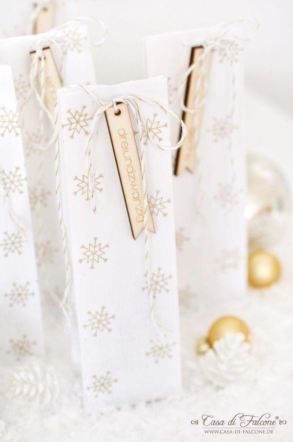 DIY Adventskalender No.20 in weiss-gold I Casa di Falcone