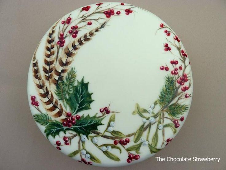 Hand-painted Christmas - Cake by Sarah Jones