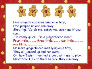 Five Little Gingerbread Men song