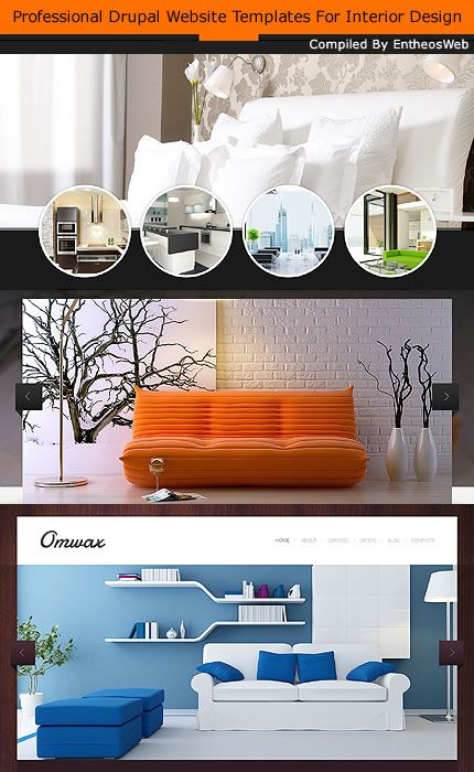 Professional Drupal Website Templates For Interior Design Drupal Themes Pinterest Student