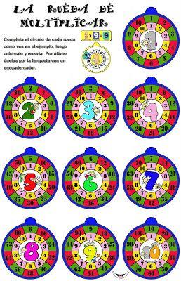 EL COLOR DE LA ESCUELA: SEGUNDO CICLO DE PRIMARIA : Material didáctico de matemáticas (MULTIPLICACIONES Y DIVISIONES)