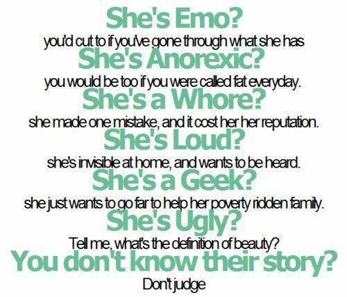 Please don't judge. It hurts.