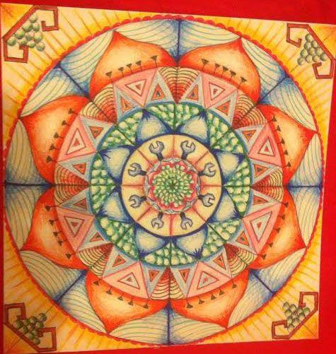 Mandala dersimizden bir kare..