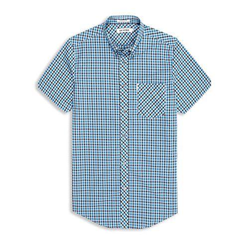 (ベンシャーマン) Ben Sherman メンズ トップス カジュアルシャツ Ben Sherman Heritage House Check Short Sleeve Shirt 並行輸入品  新品【取り寄せ商品のため、お届けまでに2週間前後かかります。】 表示サイズ表はすべて【参考サイズ】です。ご不明点はお問合せ下さい。 カラー:Blue