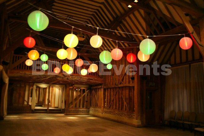 Wedding and Event Paper Lantern Canopy Hire in Buckinghamshire #bdjcevents #eventlighting #partylighting #venuedressing #ledtablecentres #paperlanterncanopy