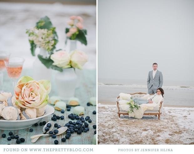 romantic winter beach wedding 013 Winter Chills {Wedding Inspiration}