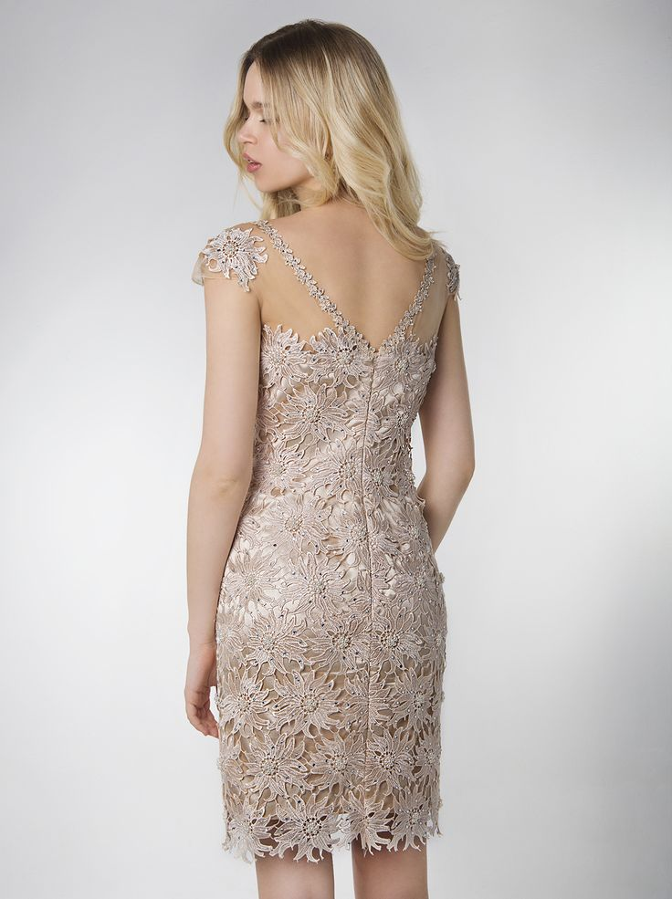 Chic and timeless short full lace coctail dress with beading...  http://mikael.gr/en/new-collection/43114.html