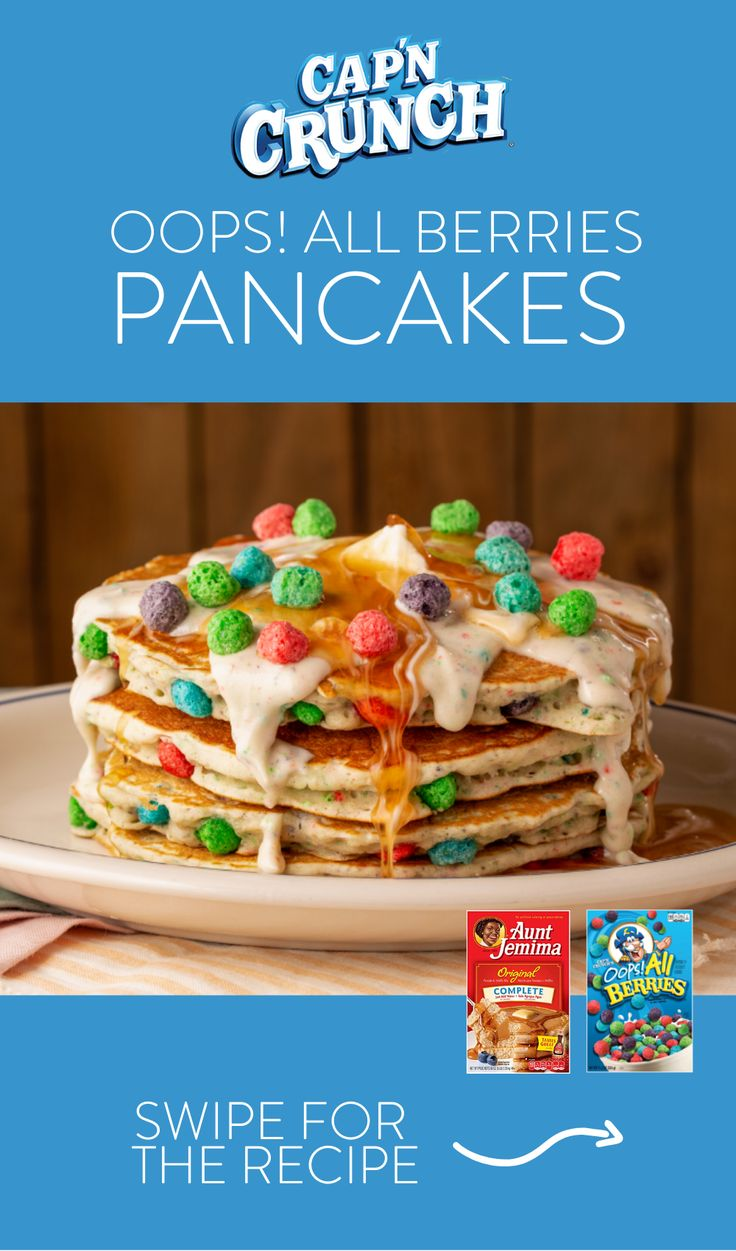 Cap N Crunch Oops All Berries Pancakes Recipe Berry Pancakes Recipes Crunch Berries All berries have existed since the release of the product. pinterest