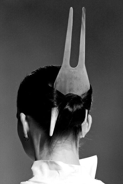 Rick Owens - Anthew SS11 horn hairpiece