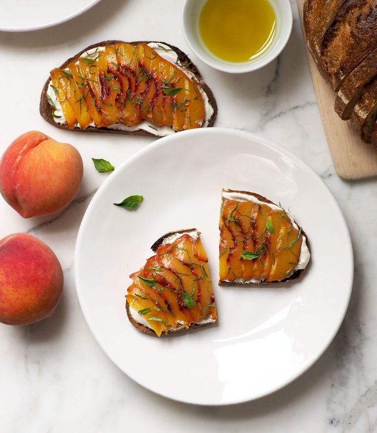 Roasted Peach Bruschetta Recipe | POPSUGAR Fitness
