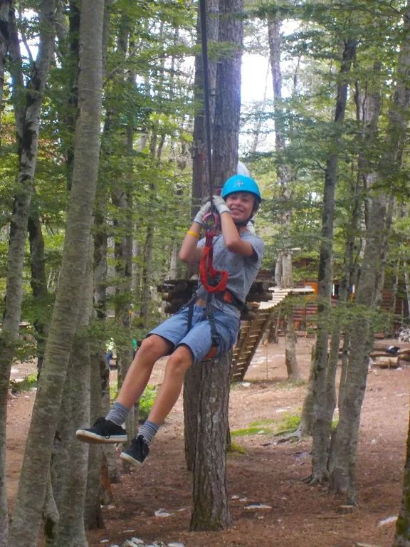 Flying through the trees on the Active Family Montenegro Holiday