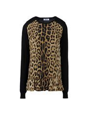 Leopard Moschino Online Store - Sweaters - Long sleeve sweater