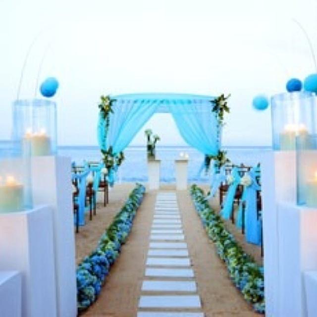 Turquoise Blue White Beach Theme Kitchen: 55 Awesome Blue Beach Wedding Ideas