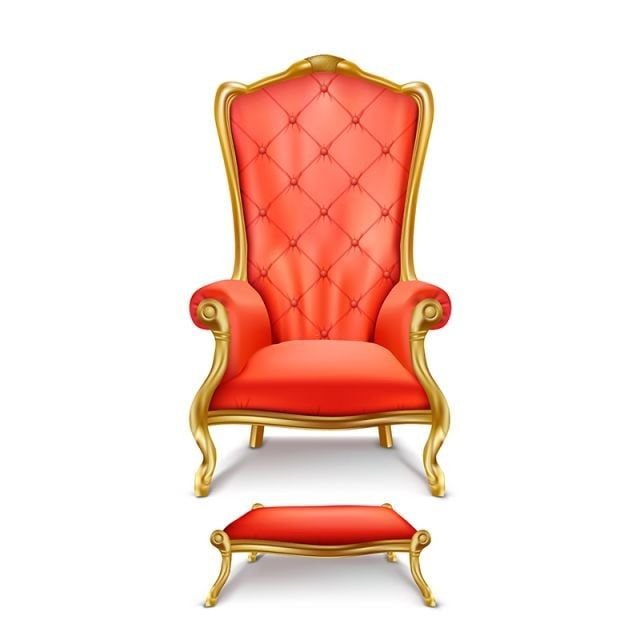 Throne King Chair Royal Armchair Gold Red 3d Luxurious Realistic Isolated Gilded Stool Tabouret Antique Ant In 2020 Throne Chair Exclusive Furniture Antique Armchairs