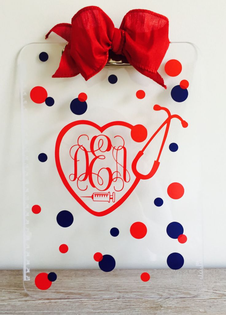 Monogrammed Nurse Clipboard by 5thRowSouth on Etsy