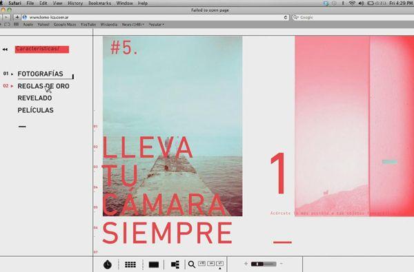 Lomo LC A Website on Behance in Web