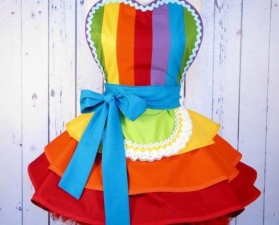 Fairy Rainbow Princess Ballerina Apron Etsy Delantal De Niños Vestidos De Payasitas Disfraz De Payaso