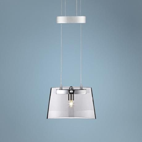 "Possini Euro Vinton 6 3/4"" Wide Glass Mini Pendant Light -"