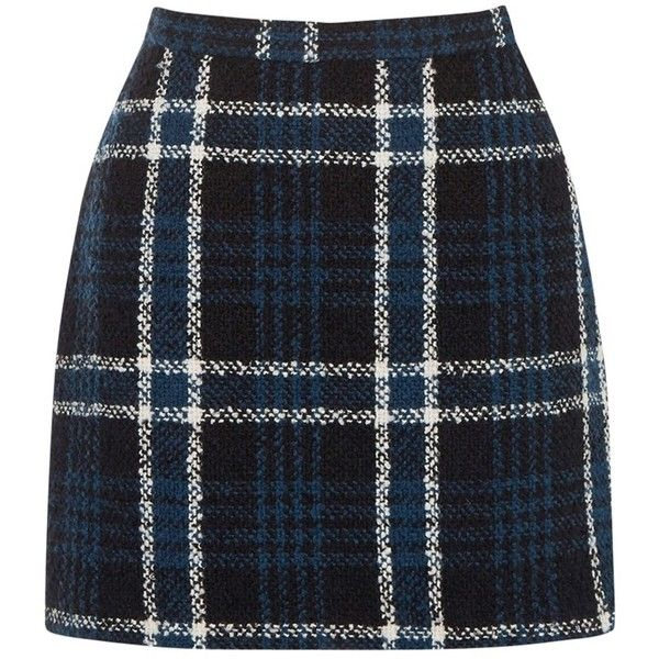 Oasis Check Marley Boucle Skirt, Multi/Black (2.845 RUB) ❤ liked on Polyvore featuring skirts, mini skirts, patterned skirts, zipper mini skirt, a-line skirt, short mini skirts and checkered mini skirt