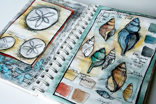 watercolour sketch book