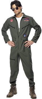 Top Gun Aviator Costume. Tom Cruise eat your heart out! You'll be a real 'top gun' in these aviator overalls which includes sewn-on badges and aviator shades.