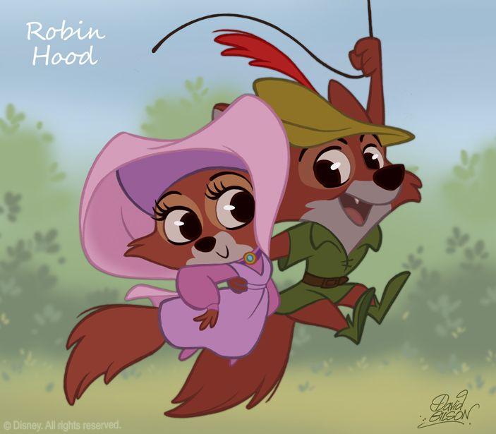 David Gilson: 50 Chibis Disney : Robin des Bois