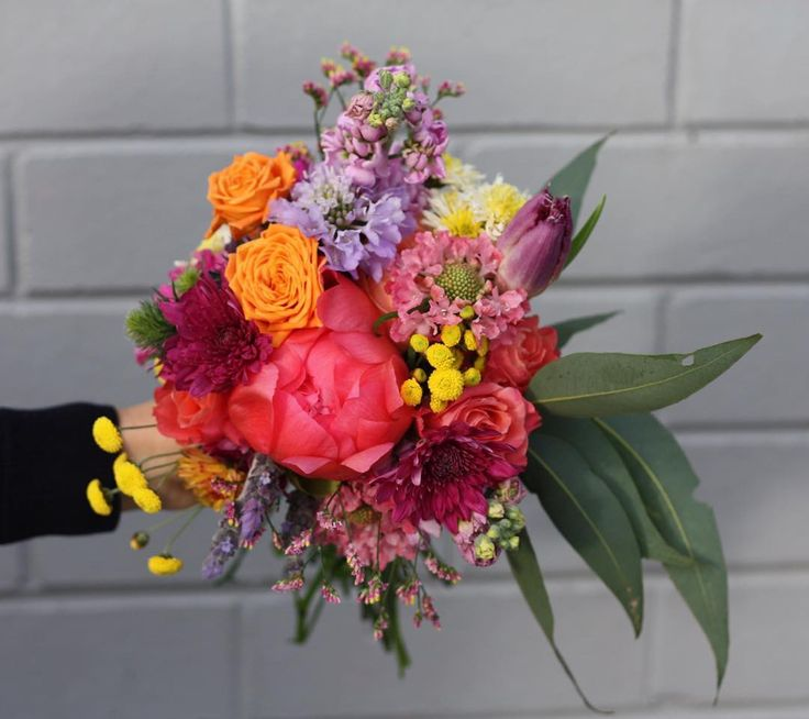 Bright bouquet for Melbourne wedding