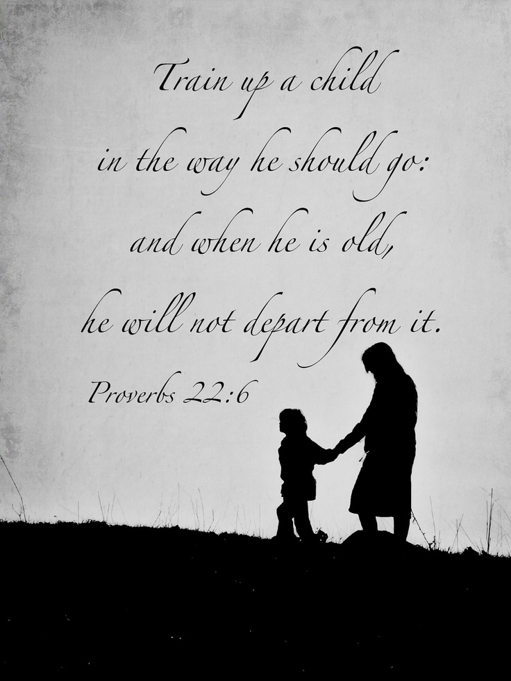 Proverbs 22:6 Christian Scripture Art Black White Photography Train Up Child