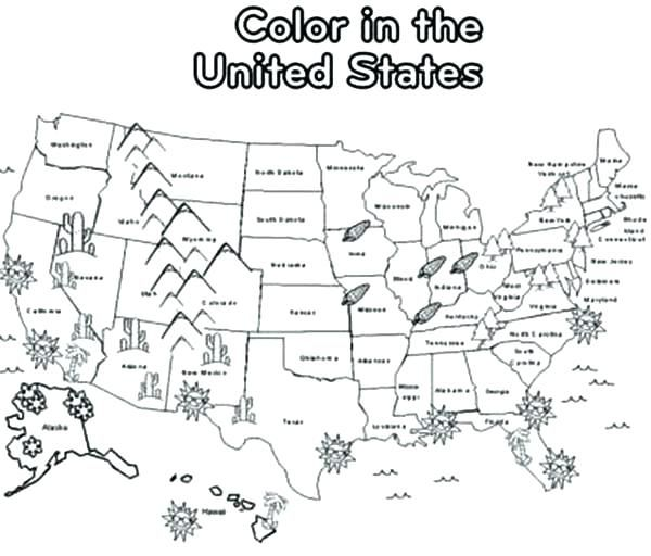 Usa Coloring Pages Coloring Pages Maps Coloring Pages Maps