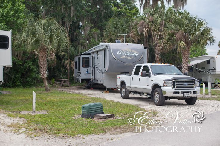 Our site at Seasons in the Sun RV Resort, Titusville, Florida