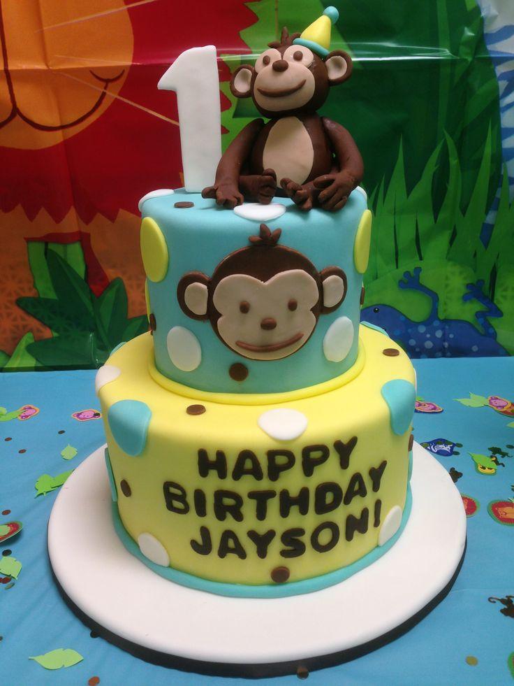 1st Birthday Cake: Monkey 1St, 1St Birthday Parties, Monkey Cakes, 1St ...