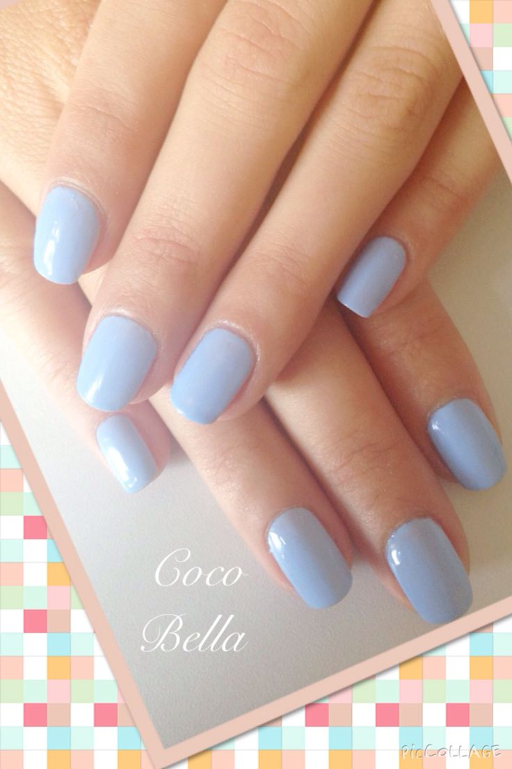 Powder Blue Mixed Gelish. Coco Bella Nail Bar.