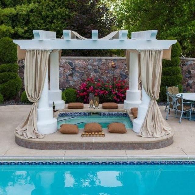 Elegant Hot Tub Covering · Pool DesignsBackyard ...