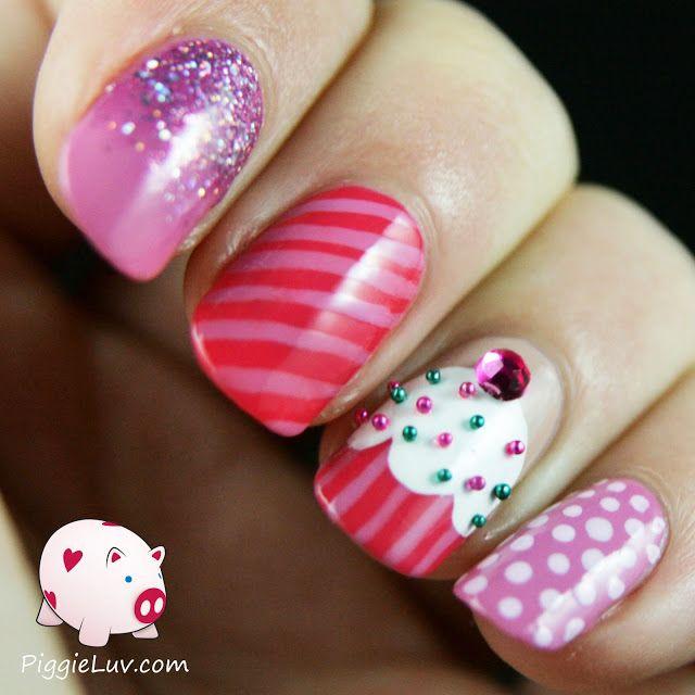 Best 25 cupcake nail art ideas on pinterest mermaid nail art cupcake nail art very tasty prinsesfo Gallery