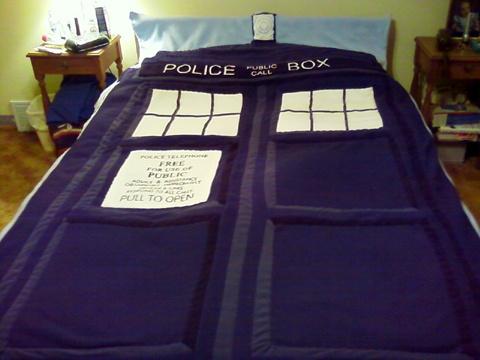 TARDIS blanket