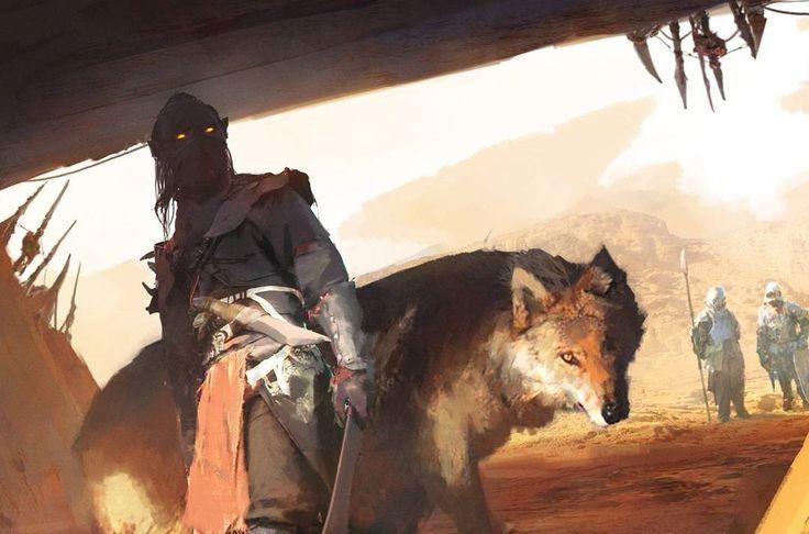 "regram @art_series ""Desert Elf""by Rostyslav Zagornov #art #art_series #digitalart #арт #рисунок  #глаза #жара #иллюстрация  #желтый #меч #волк #эльф #пустыня #песок #красиво #шедевр #fantasy #fantasyart #painting #illustration #desert #sun #heat #beautiful #picture #wolf #elf #sword #sand #RostyslavZagornov #FredericClad"