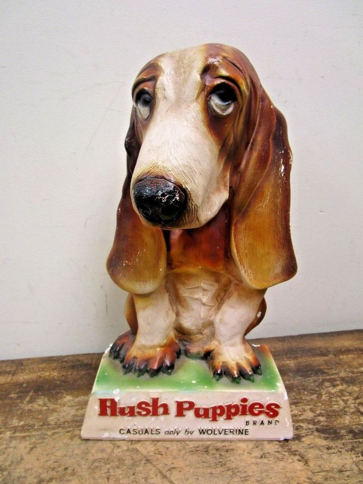 Vintage ORIGINAL Hush Puppies Chalkware Basset Hound Shoe ...