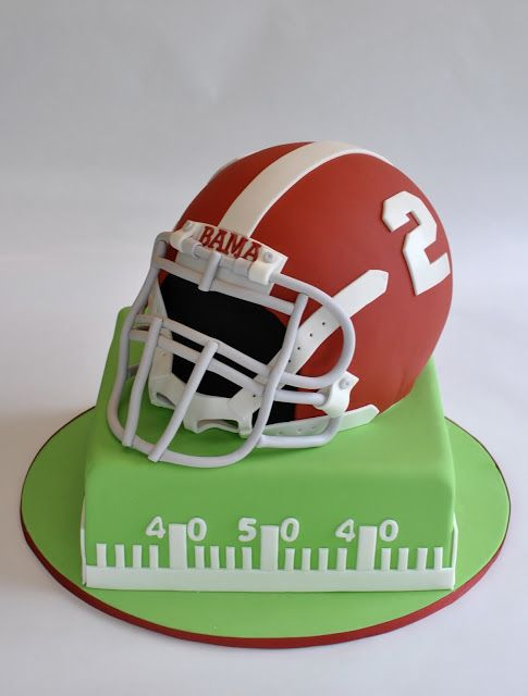 Alabama Football Helmet Cake