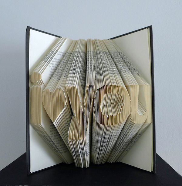 Complementing Fine Arts:  Folded Book Sculptures by Luciana Frigerio